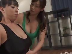 Curvy girls in one piece swimsuits fingering and tribbing porn tube video