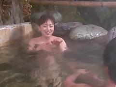 Japanese milf masturbation in the spa is wicked sexy