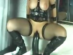 Blonde takes huge toy porn tube video