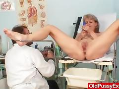 Beautiful blonde milf Alena hole doc exam tube porn video