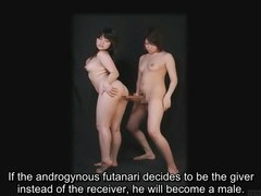 Bizarre Japanese futanari subtitled instructional clip porn tube video