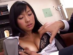 Nurse from Japan takes the cock into her hands and gives a blowjob porn tube video