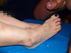 Emma's feet and flying cum porn tube video
