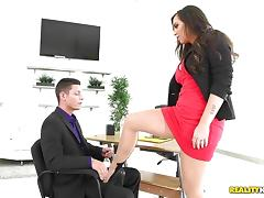 Australian, Australian, Boss, Leather, Naughty, Office