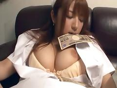 Bootylicious Asian lady spreads legs and gets drilled with the dick tube porn video