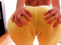 Most Amazing Cameltoe Latina! Big Ass! Perfect Natural Tits! porn tube video