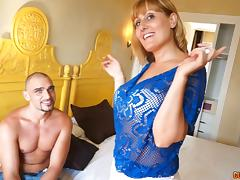 Amazing senorita sucks the dick and gets ready for the spooning