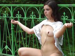 master humiliates female slave in public porn tube video