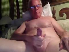 Grandpa stroke and cum on cam tube porn video