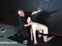 Humiliated slave Isabel Deans pegged and punished porn tube video