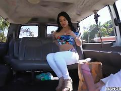 bootylicious babe sucks cock in the backseat tube porn video