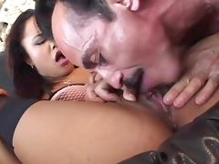 Tight bald cunt of Annie Cruz banged by a hard cock porn tube video