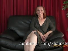 Redheaded MILF Amber is Aunt Judy's Newest Beauty tube porn video