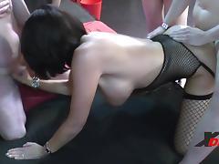 Girlie + Milf Gangbang... porn tube video