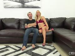Ashley Fires exchanges the sex toy adventure for a nice cock ride