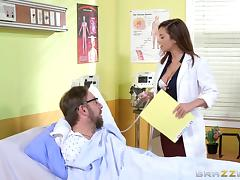 Doctor Keisha Grey sucks and fucks a coworker in his office