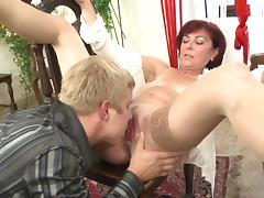 Tantalizing redhead with lots of experience shagged just how she loves