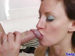 Brunette gets her pussy drilled