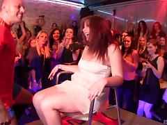 It's one of those nightclubs where chicks can do some cock sucking! porn tube video