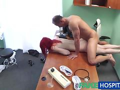 FakeHospital Cute redhead rides doctor for cash tube porn video
