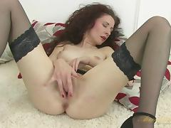 Flat Chested, Boobs, Brunette, Cougar, Fingering, Horny