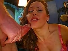 2 huge facial cumshots in mouth