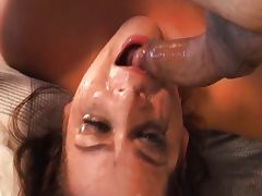 Brunette, Bimbo, Blowjob, Brunette, Couple, Deepthroat