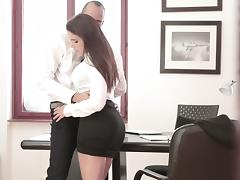 Right down to business with her boss porn tube video