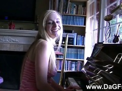 Bad piano player gets hard banging punishment tube porn video