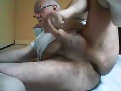 Grandpa play and stroke on cam tube porn video