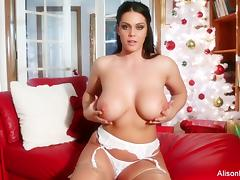 Alison Tyler Christmas Solo tube porn video