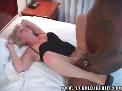 Cuckold Archive Husband Sissy watching his wife fucked