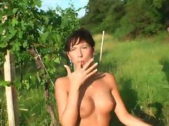 baisouille dans les vignes