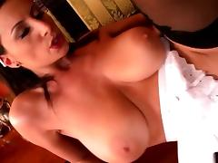 Lusty maid with massive melons gets rammed porn tube video