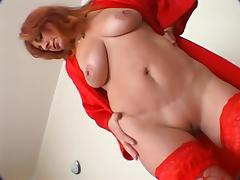 Horny redheaded Mature getting fucked tube porn video