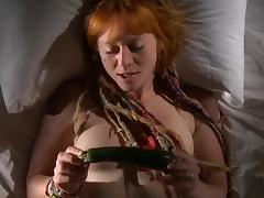 Redhead solo porn tube video
