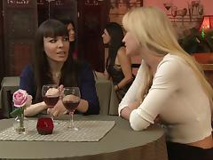 Trio of well graced lesbians get wild licking and teasing their muffs warmly