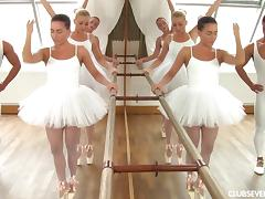 Ballerinas have an orgy with a lucky big dick guy porn tube video