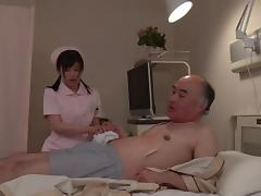 Old dick fucks the Japanese nurse in her perfect wet pussy porn tube video