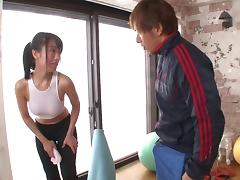 Japanese squirter fingered and fucked in multiple scenes tube porn video
