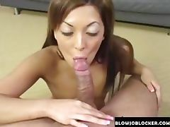 Really hot brunette sucks cock tube porn video