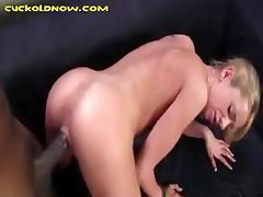 Interracial Cowgirl Ride For Blonde