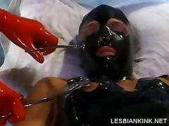 BDSM scene with lesbo getting body toyed tube porn video