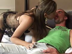 Tantalizing transsexual slut with a big cock and tight perfect ass enjoying fantastic anal sex