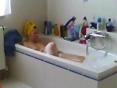 Bathing, Amateur, Bath, Bathing, Bathroom, Caught