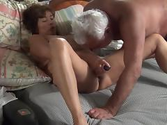 Asian maja with dildo and cock porn tube video