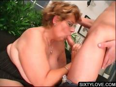 Blowjob on knees with mature babe tube porn video