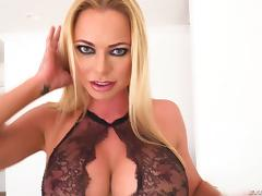 Briana Banks the hot milf sits her pussy on his fat dick