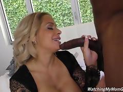 Posh mature mom Alyssa suck and fuck black boy tube porn video