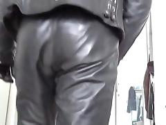 leather biker masked rubber plug anal tube porn video